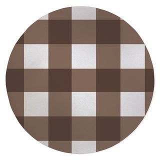 BARRETT BUFFALO CHECK BROWN Area Rug By Kavka Designs