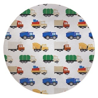 ALL THE TRUCKS Area Rug By Kavka Designs