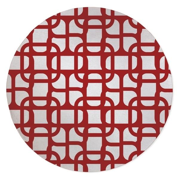 LUKE DESIGN RED Area Rug By Kavka Designs