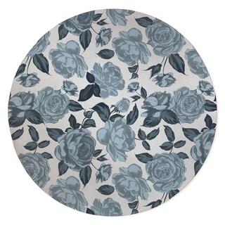 ROSE BLUE FLOWER Area Rug By Kavka Designs