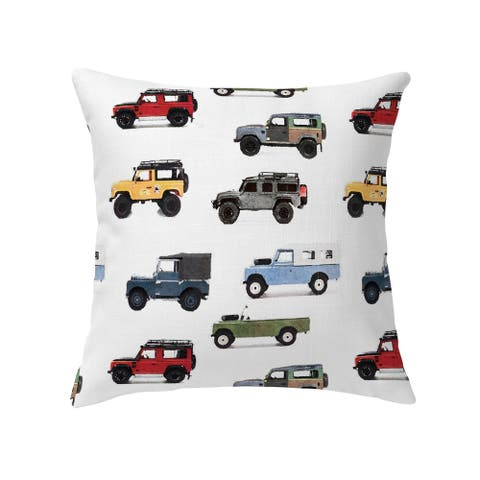 GUS VINTAGE LAND ROVER PATTERN Decorative Pillow by Kavka Designs