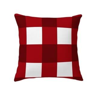 BARRETT BUFFALO CHECK RED Decorative Pillow By Kavka Designs