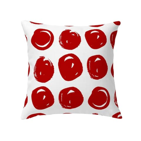 CLAY CIRCLE RED Decorative Pillow by Kavka Designs