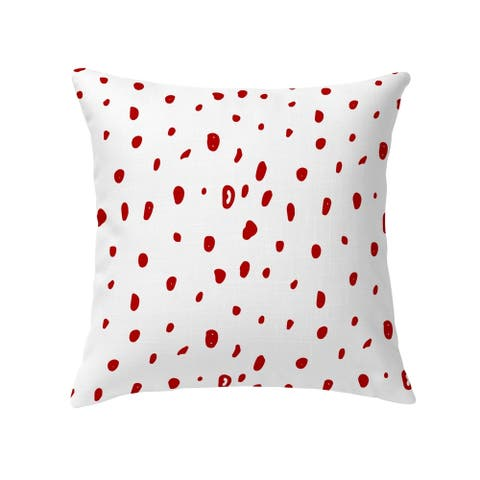DAVID SMALL DOTS RED Decorative Pillow by Kavka Designs