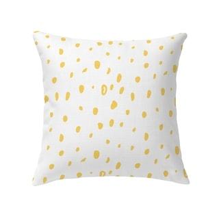 DAVID SMALL DOTS YELLOW Decorative Pillow By Kavka Designs