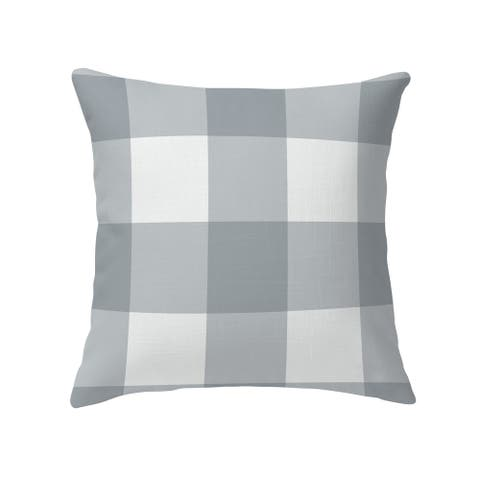 BONNIE GREY BUFFALO CHECK GREY Decorative Pillow by Kavka Designs