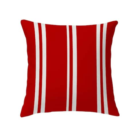 RYAN STRIPES RED Decorative Pillow by Kavka Designs