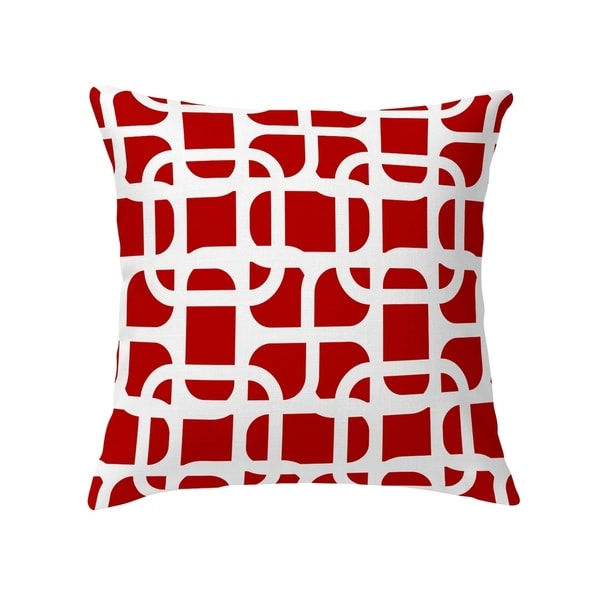 LUKE DESIGN WHITE ON RED Decorative Pillow by Kavka Designs. Opens flyout.