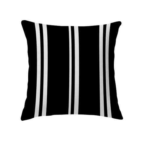 RYAN STRIPES BLACK Decorative Pillow by Kavka Designs