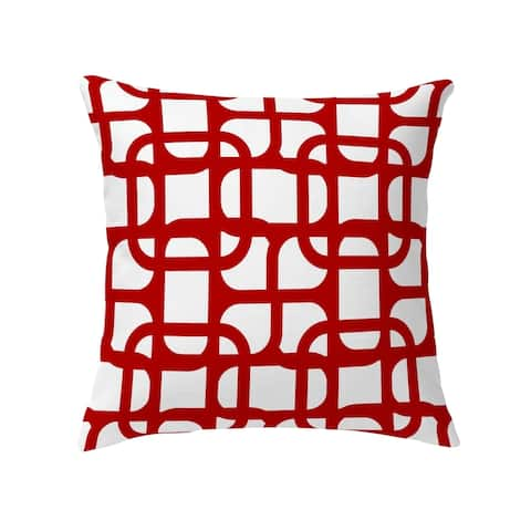 LUKE DESIGN RED Decorative Pillow by Kavka Designs