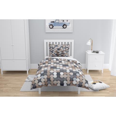 BECKHAM TILE DOT BROWN Comforter by Kavka Designs