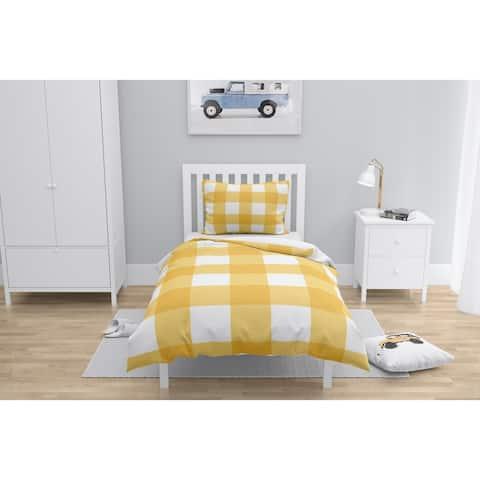BARRETT BUFFALO CHECK YELLOW Comforter by Kavka Designs