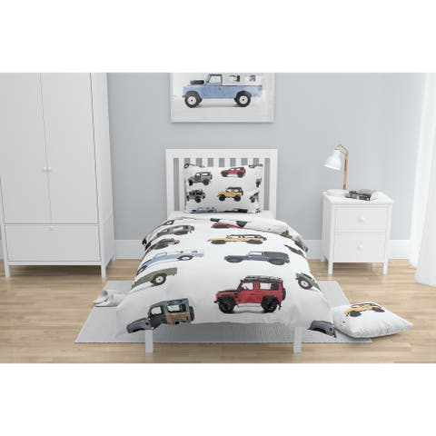 GUS VINTAGE LAND ROVER PATTERN Comforter by Kavka Designs