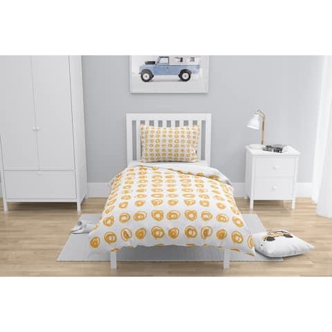 EDISON CIRCLE ORANGE Comforter by Kavka Designs