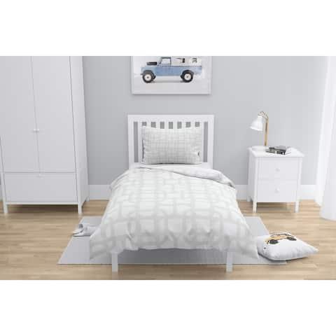LUKE DESIGN WHITE ON WHITE Comforter by Kavka Designs
