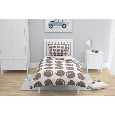 CLAY CIRCLE BROWN Comforter by Kavka Designs