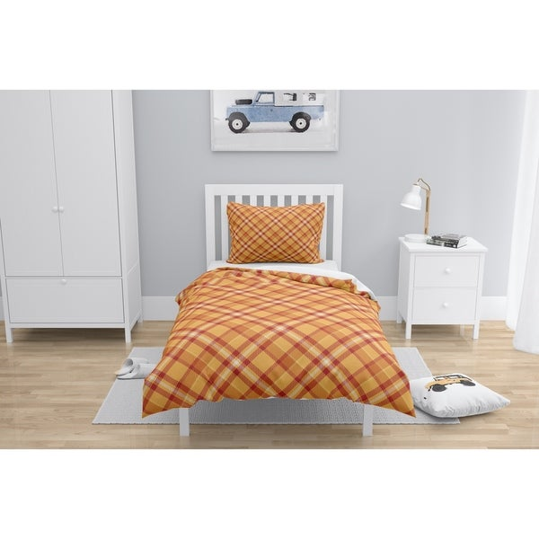 NOAH ORANGE and RED Comforter by Kavka Designs. Opens flyout.