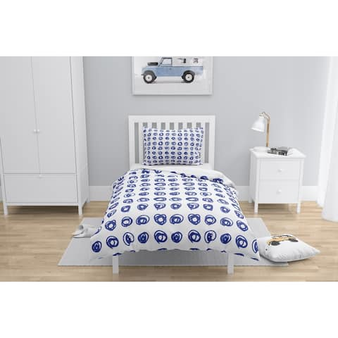 EDISON CIRCLE BRIGHT BLUE Comforter by Kavka Designs