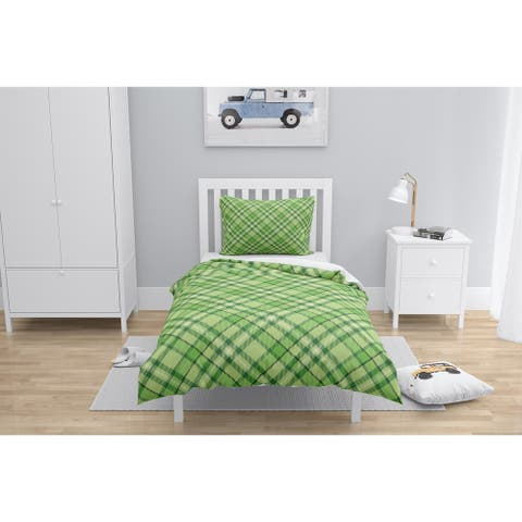 NOAH PLAID GREEN Comforter by Kavka Designs