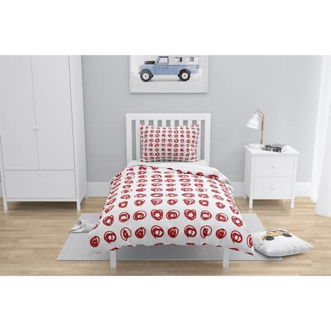 EDISON CIRCLE RED Comforter by Kavka Designs