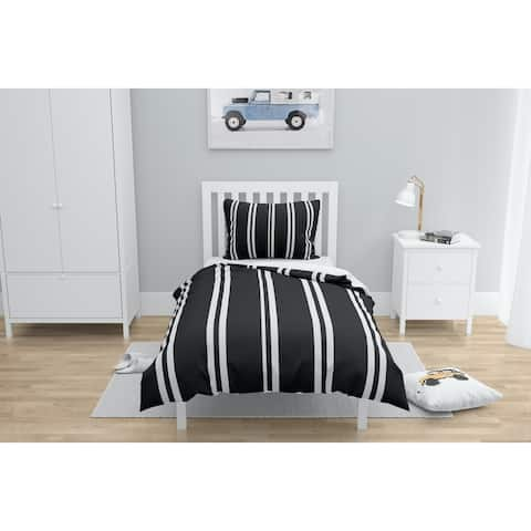RYAN STRIPES BLACK Comforter by Kavka Designs