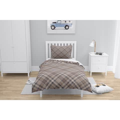 NOAH PLAID BROWN Comforter by Kavka Designs