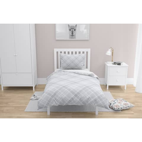 EVERLY WHITE and GREY Comforter by Kavka Designs
