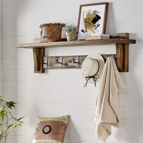 Carbon Loft Bahamondes 60-inch Wood Coat Hook Entryway Shelf