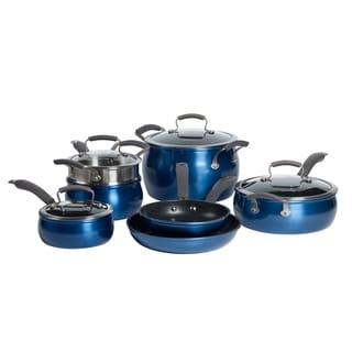 Epicurious 11Pc Aluminum Cookware Set Blue