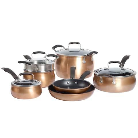 Epicurious 11Pc Aluminum Cookware Set Copper