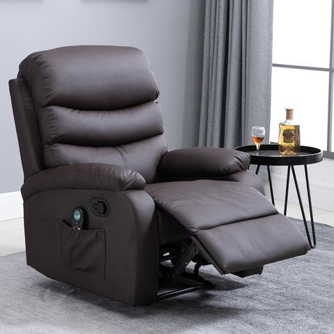 Copper Grove Ramsey Heated Massaging Faux Leather Recliner