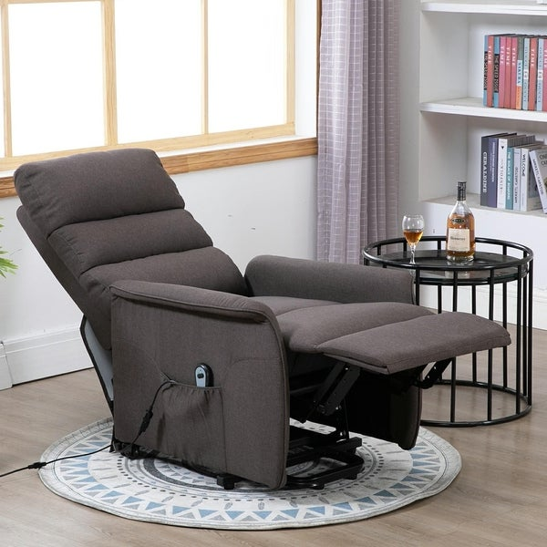 HOMCOM Power Lift Assist Recliner Chair with Wheels and Remote. Opens flyout.