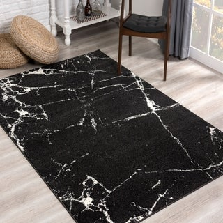 Link to Rug Branch Nova Modern Abstract Area Rug, Black Similar Items in Transitional Rugs