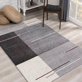 Rug Branch Nova Modern Abstract Area Rug, Grey