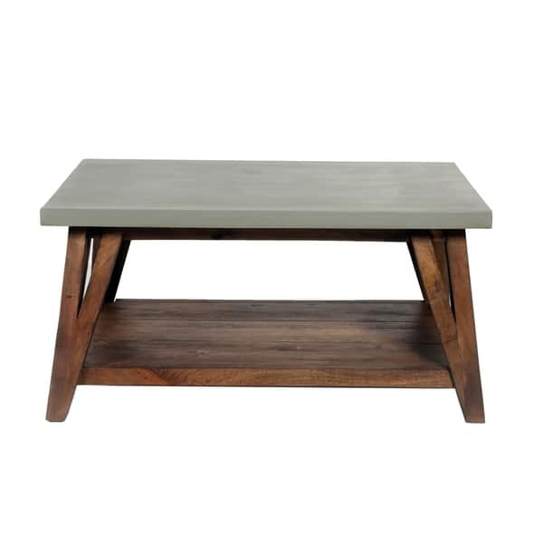 Concrete Coated Wood Entryway Bench