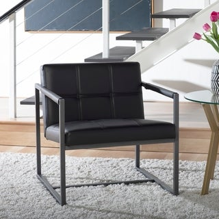 Studio Designs Home Camber Mid-Century Modern Accent Chair with Metal Frame and Bonded Leather