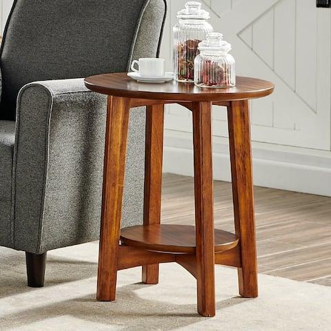 Carson Carrington Yttertanger Warm Chestnut Mid-century Modern Wood End Table