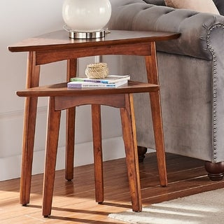 Link to Carson Carrington Yttertanger Triangular Mid-century Modern Nesting Tables (Set of 2) Similar Items in Living Room Furniture