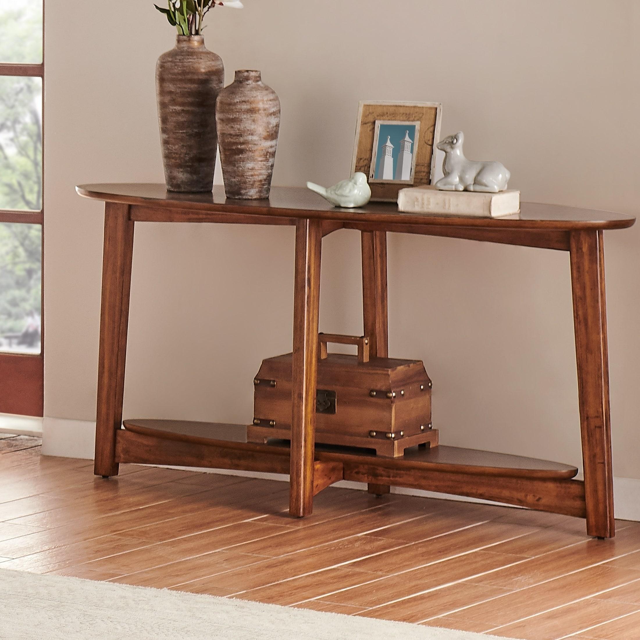 Carson Carrington Yttertanger Mid Century Modern Console Entryway Table Overstock 29871452