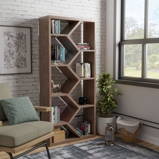 Link to Carson Carrington Hogfors Modern 9-shelf Display Bookcase Similar Items in Bookshelves & Bookcases