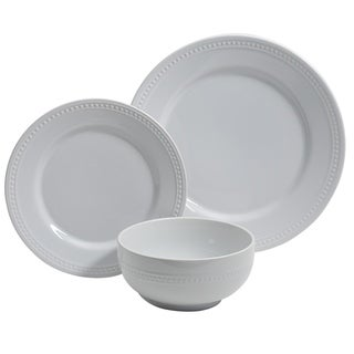 Gibson Home Royal Palace 12 Piece Ceramic Dinnerware Set in White