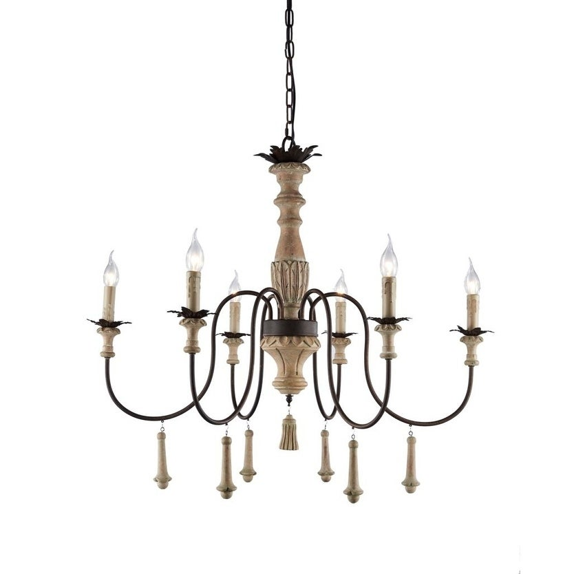 6 Light Candle Style Classic Traditional Chandelier On Sale Overstock 29871630
