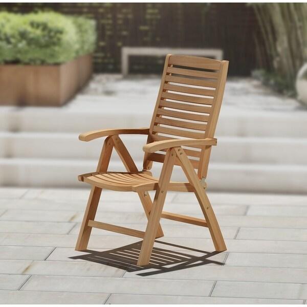 Teakwood 5 Position Folding Chair