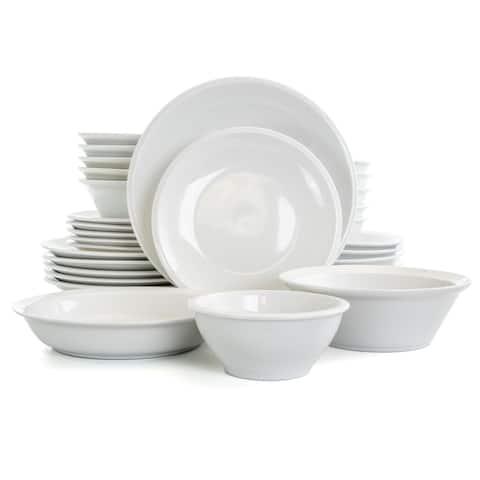 Gibson Home Premier 30 Piece Fine Ceramic Dinnerware Set in White