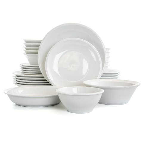 Gibson Home Premier 30 Piece Fine Ceramic Dinnerware Set in White
