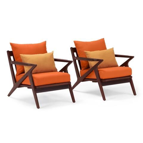 Vaughn Club Chairs in Tikka Orange by RST Brands