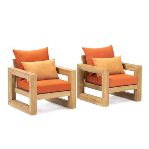 Benson Club Chairs in Tikka Orange by RST Brands
