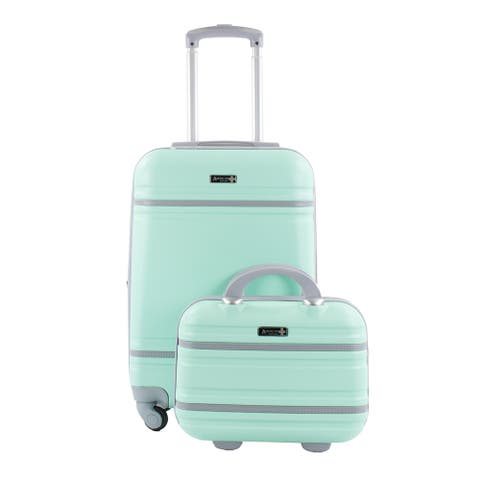 "Varsity 2-Piece Carry-On 20""/12"" Cosmetic Weekender Luggage Set"