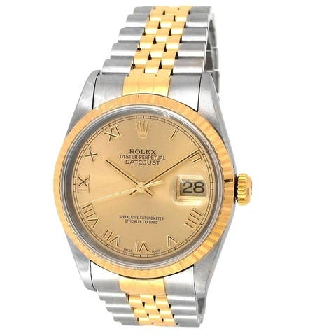 Pre-owned 36mm Rolex Two-tone Datejust
