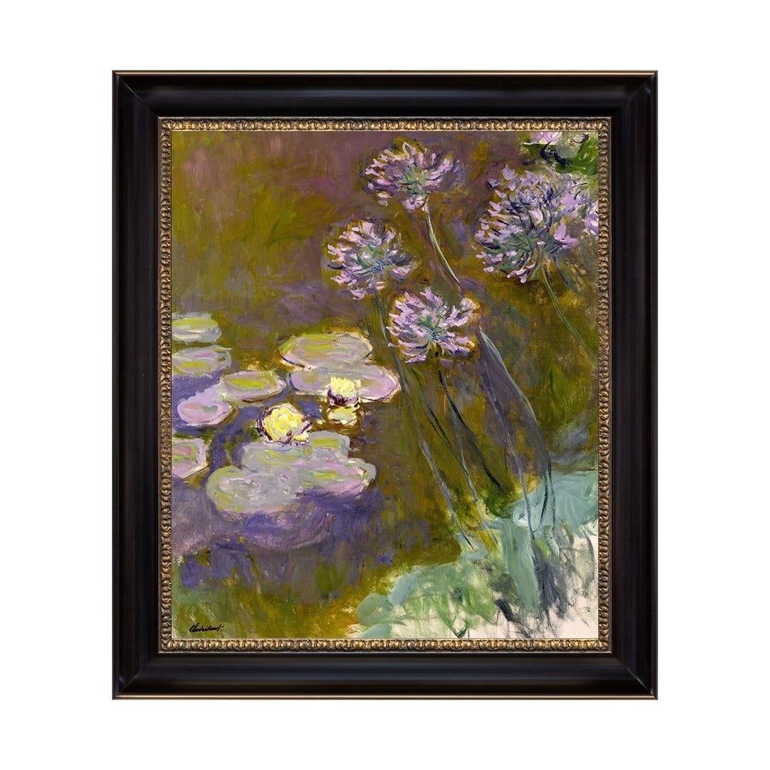 lily of Nile,African lily in the UK,living room large wall art decorations Agapanthus Claude Monet hand-painted oil painting reproduction